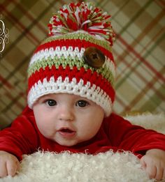 Baby Hat 0 to 3 Months Ultra Soft Christmas by OurCozyCottage, $14.99