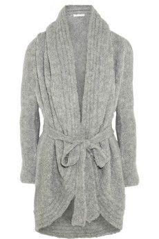 Skin Hooded alpaca-blend robe   NET-A-PORTER