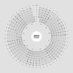 Moon Calendar 2014 by Michel Paukner