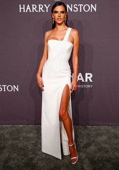 There's Only 1 Word For Alessandra Ambrosio in This Versace Dress: Wow!