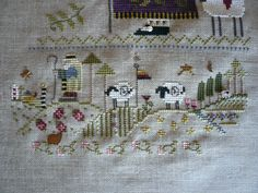Cross stitch stocking - Shepherd's Bush design
