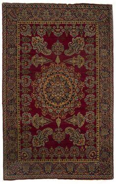 ASFHAR (KIRMAN) NARIS CARPET, SOUTH PERSIA Dimensions: approx. 213 x 137 cm I Albahie Auction House