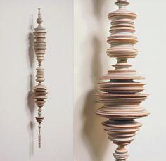 Tom Lauerman, Phrase (with detail), 2004 Sculptures Céramiques, Sculpture Art, Mobile Sculpture, Totems, Ceramic Clay, Ceramic Pottery, Glazed Ceramic, Contemporary Ceramics, Contemporary Art