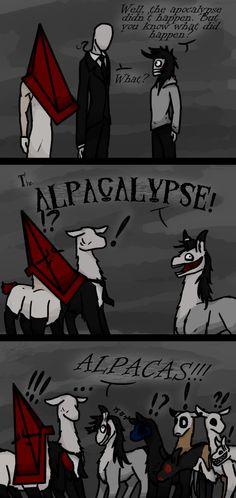 Alpacalypse by GingaAkam on deviantART