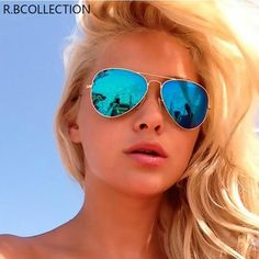 Ray-Ban Blue Aviator Flash Lens/Gold Frame Sunglasses off retail Mirrored Aviator Sunglasses, Cheap Ray Ban Sunglasses, Sunglasses Outlet, Sunglasses Women, Summer Sunglasses, Sunglasses Price, Sunglasses Store, Aviator Glasses, Black Sunglasses