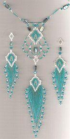 Caribbean Mist Necklace and Earrings Set at Sova-Enterprises.com