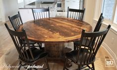 Beautiful reclaimed wood table and dark, new chairs in traditional style is Elin's most enthusiastic choice so far.
