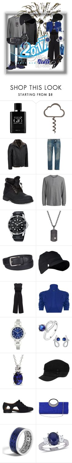 """""""Time 4 a New Beginning 2017"""" by kymbo-jonez ❤ liked on Polyvore featuring Giorgio Armani, River Island, Timberland, Jack & Jones, Rhona Sutton, Columbia, Spyder, WearAll, Nine West and Ice"""
