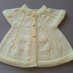 Boncuklu örgü bebek yeleği [] | Yellow,