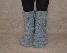 Hand knit socks, wool socks, Handmade Knitted Wool Socks, knitted slippers socks, christmas present