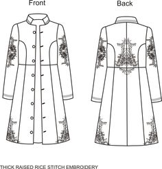copyright: embroidered ladies long coat