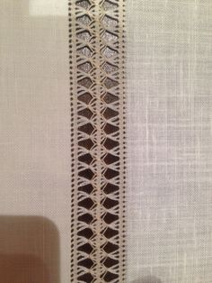 This post was discovered by TC Esma Ataman. Discover (and save!) your own Posts on Unirazi. Hardanger Embroidery, Lace Embroidery, Embroidery Designs, Hem Stitch, Cross Stitch, Crochet Baby Dress Pattern, Swedish Weaving, Drawn Thread, Irish Lace