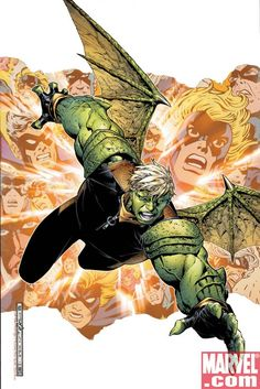 "Hulkling of the Young Avengers (real name Dorrek VIII, a.k.a. Theodore ""Teddy"" Altman, son of Mar-Vell of the Kree and Princess Anelle of the Skrulls)"