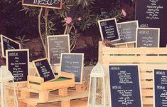 Los seating de boda con más estilo