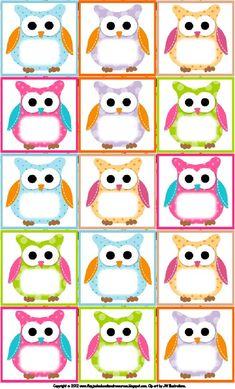 Birthday Chart Classroom, Birthday Charts, Owl Classroom Decor, Classroom Themes, Owl Labels, Animal Crafts For Kids, Flirt, School Themes, Free Printables