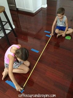 Frog Jump Math Measurement Activity