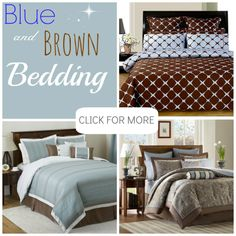 Blue Brown Bedding Brown And Blue Chenille Stripes Bedding