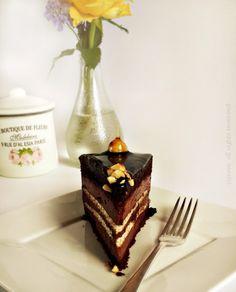 Chocolate Hazelnut Meringue and Mousse Cake