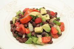 Mediterranean Black Bean Salad - One of my favorites. Tasty and filling, this salad could be a meal or a side dish. The avocado makes it!