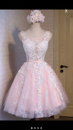 Pink Short Prom Dress Bridesmaid Dresses Tulle Appliques Evening Dresses Women Dress Wedding Dress Custom Made Pink Short Prom Dress Bridesmaid Dresses Tulle Appliques Evening Dresses Women Dresses Wedding Dress Party Dress Dresses For Teens, Women's Dresses, Pretty Dresses, Beautiful Dresses, Formal Dresses, White Homecoming Dresses, Tulle Bridesmaid Dress, Tulle Dress, Confirmation Dresses