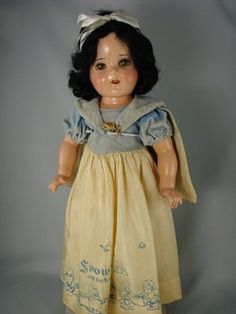 ": 21"" COMPO SNOW WHITE BY IDEAL - SHIRLEY TEMPLE  mold"