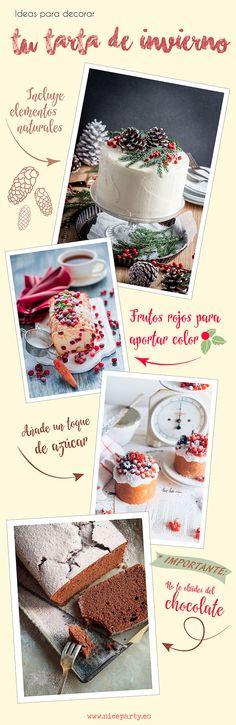 Inspiración: Ideas para decorar tu tarta de invierno