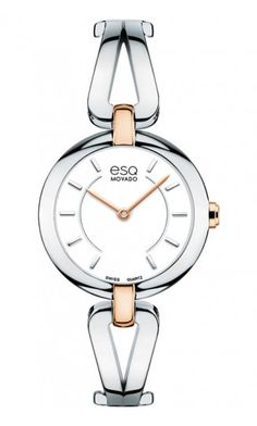 "ESQ ""Corbel"" Woman's Watch.Stainless Steel & Rose Gold IP Plated Quartz Movement at DarcysFineJewelers.com  $350"