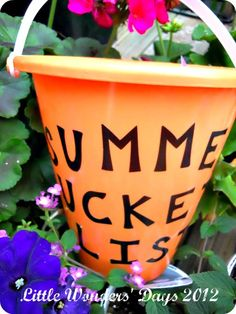 Summer Bucket List - tons of cute ideas for kids to do this summer