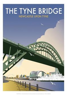 Tyne Bridge - Dave Thompson Contemporary Travel Print Giclee Print by Dave Thompson at Art.co.uk