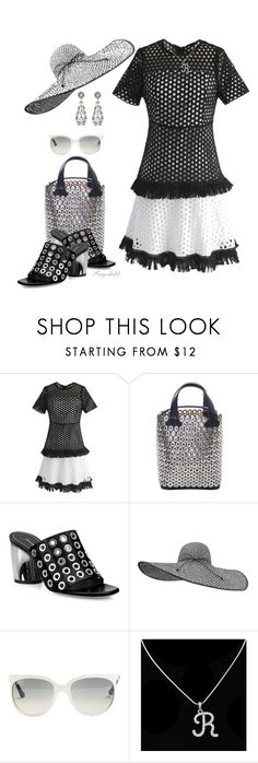 """""""Eyelet"""" by ragnh-mjos ❤ liked on Polyvore featuring Chicwish, Alaïa, Proenza Schouler and Ray-Ban"""