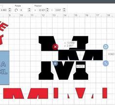 How To Edit Text in Cricut Design Space - Daily Dose of DIY Slicing a monogram in Cricut Design Space Vinyl Crafts, Vinyl Projects, Diy Craft Projects, Cricut Air 2, Cricut Vinyl, Cricut Monogram, Cricut Help, Design Digital, Cricut Tutorials
