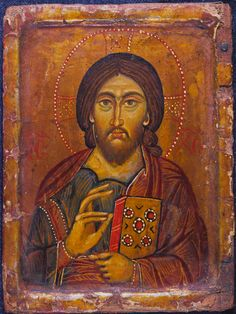 Christ Pantokrator · The Sinai Icon Collection Byzantine Icons, Byzantine Art, Religious Images, Religious Icons, Jesus Superstar, Greek Icons, Life Of Christ, Like Icon, Icon Collection