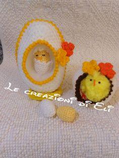 Le creazioni di Eli : Uova con pulcini