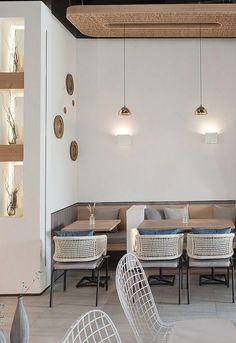 Cozy office cafe in small space 18 - Home Decor Coffee Shop Interior Design, Coffee Shop Design, Bar Interior, Restaurant Interior Design, Interior Modern, Kitchen Interior, Tanzstudio Design, Cafe Design, Design Case
