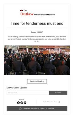 Time for tenderness must end