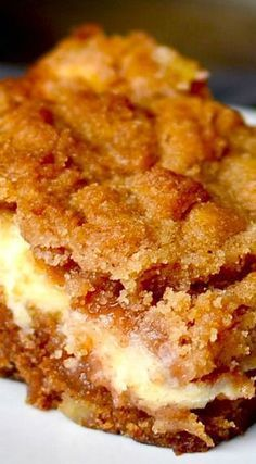 Cream Cheese Apple Coffee Cake Recipe: much less sugar much less salt much less vanilla and it would be perfect; o] made it The post Cream Cheese Apple Coffee Cake appeared first on Win Dessert. Potluck Desserts, Brownie Desserts, Just Desserts, Apple Dessert Recipes, Brunch Recipes, Apple Fritter Recipes, German Desserts, Supper Recipes, Fall Desserts