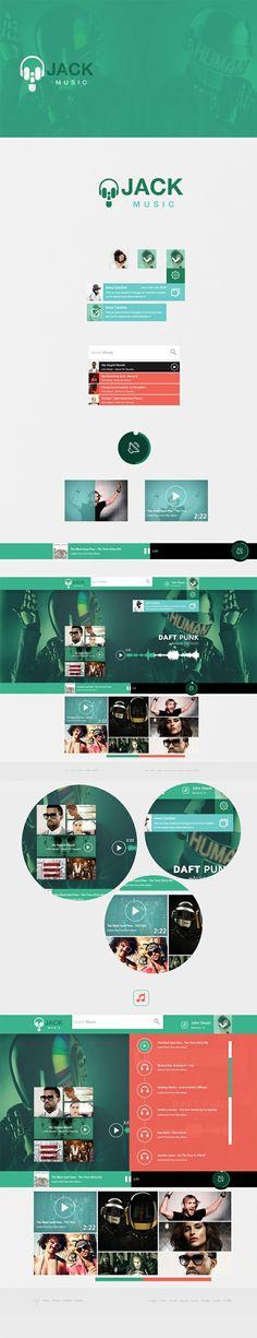 Music Jack (web site concept) by Cüneyt SEN, via Behance