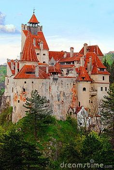 The Bran Castle located in Romania. This is also known as Dracula's castle