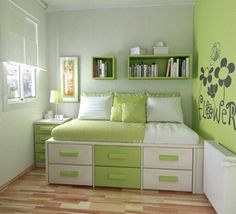 budget bedroom decorating teenage bedroom decorating ideas on a budget awesome small bedroom design Teenage Girl Bedroom Designs, Girls Bedroom Colors, Small Bedroom Designs, Small Room Design, Teenage Girl Bedrooms, Girl Rooms, Bed Designs, Teen Rooms, Bedroom Green