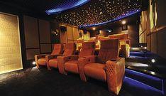 Home cinema lighting explained! Theatre Games, Cinema Theatre, Home Cinema Room, Home Theater Design, Jacuzzi, Septum, Luxury Homes, Las Vegas, Wall Lights