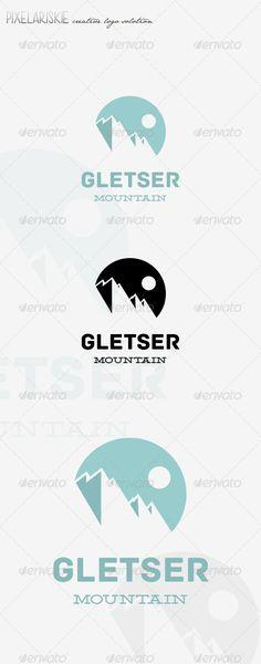 Gletser Mountain Logo antartic, arctic, blue, cold, glacier, gletser, ice, mount, mountain, mountain logo, natural, nature, pole, snow, Gletser Mountain Logo