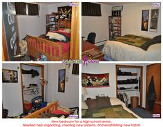 New and improved bedroom for a high school senior. #teenage #bedroom #organize #declutter