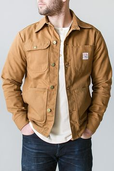 Pointer Brand Brown Duck Chore Coat
