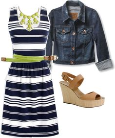 Navy and lime by lovesjcrew ❤ liked on Polyvore
