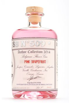 I'm in love with the pretty colour of this BUSS Pink Grapefruit PD (Gin Bottle Design) Cocktail Drinks, Alcoholic Drinks, Cocktails, Fancy Drinks, Beverages, Ginger Ale Gin, Pink Grapefruit Gin, Whisky, Gin Brands
