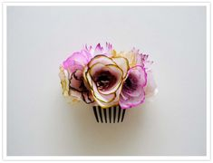 paper flower hair piece