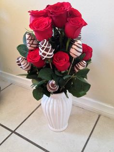 Roses and strawberries bouquet great mothers day gift