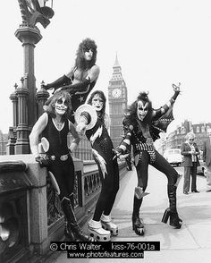 Kiss: Love the juxtaposition of the Houses of Parliament with a cartoon rock band in platform heels