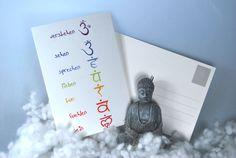 Postkarte 7 Chakren - Chakra - bunt  von DaiSign auf DaWanda.com