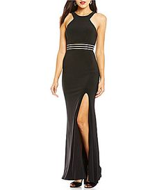 e2273d55d83 Jodi Kristopher Illusion Banded Waist Long Dress  Dillards Dillards